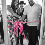 Toya, Owner of Gaudy Garbs with The Mayor of Inglewood and Councilwoman